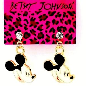 MICKEY MOUSE Enamel & Gold Betsey Johnson …